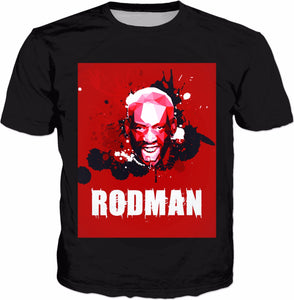 Red Rodman Classic Black T-Shirt