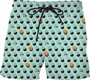 Slime Polka Dots Swim Shorts
