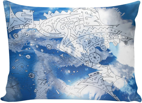 White Feather White Clouds Pillowcase
