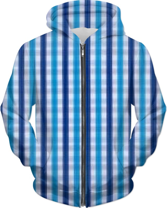 Another Blue plaid Adult Hoodie