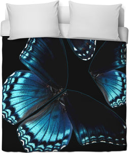 Blue Butterflies Duvet Cover