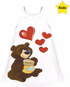 Love Bear Girls Dress
