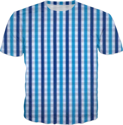 My Blue Plaid Men's T-Shirt