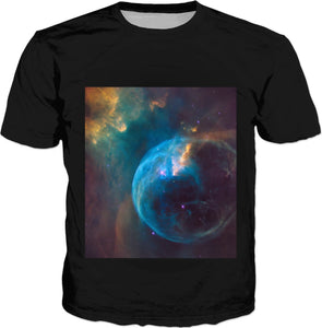 Blue Stars On Black Men's T-Shirt