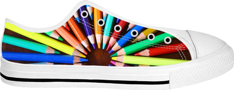 Colored Pencils Low Top Adult Shoes