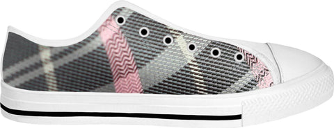 Grey and Pink Low Top Shoes