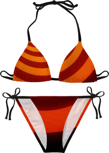 Orange Swirls Women's Bikini