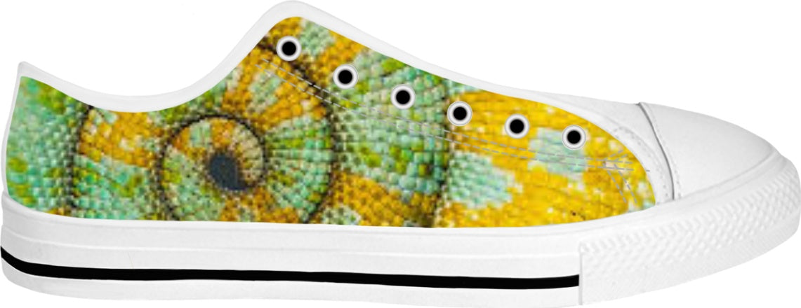 Chameleon Tail Yellow Green Low top Shoes
