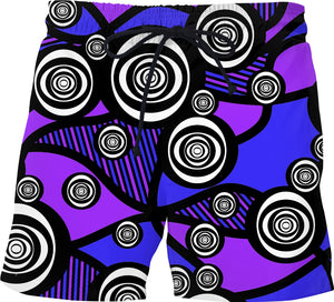 Abstract Eyes Swim Trunks