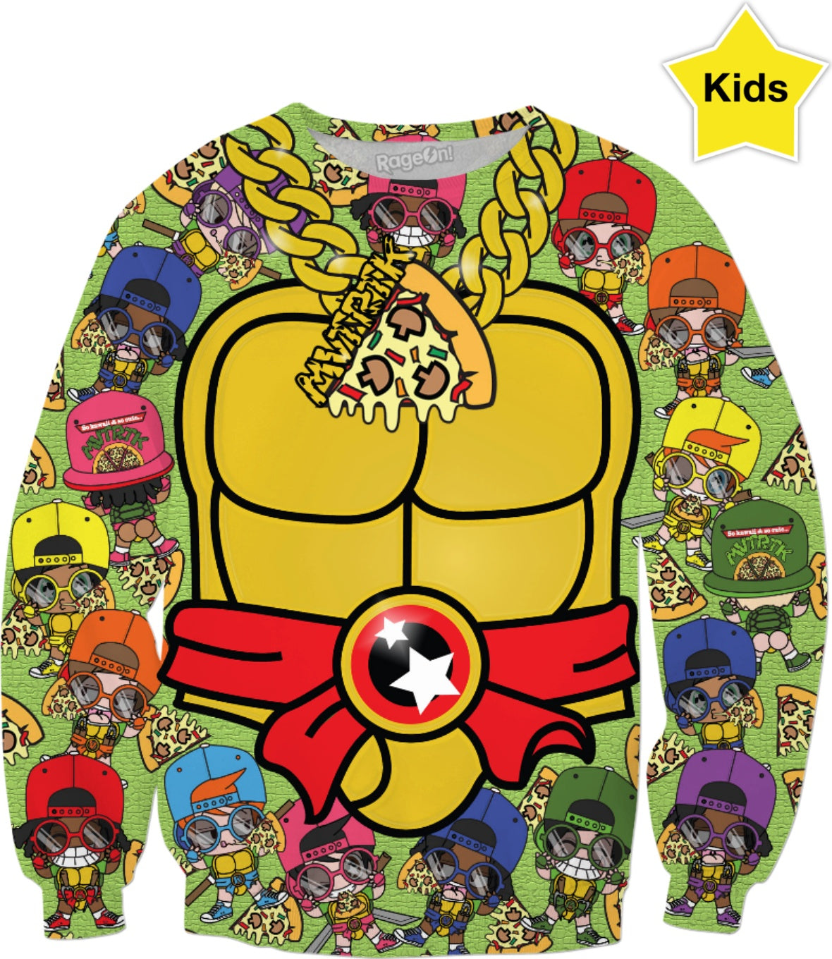 MVTRTK PIZZA Kids Sweatshirt