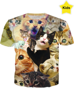 Surprised Cats Kids T-Shirt