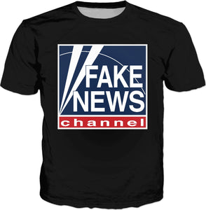 Fake News Channel Classic Black T-Shirt