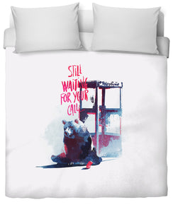 Still waiting for your call Duvet Cover