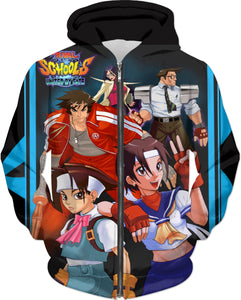 Rival Schools Illustration By Picasso Dular Hoodie