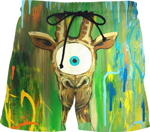 Spirit Animal Sight: Giraffe Swim Shorts