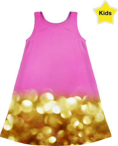 Pink and Gold Glitter Children's Dress