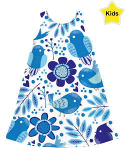 Blue Birds Children's Dress