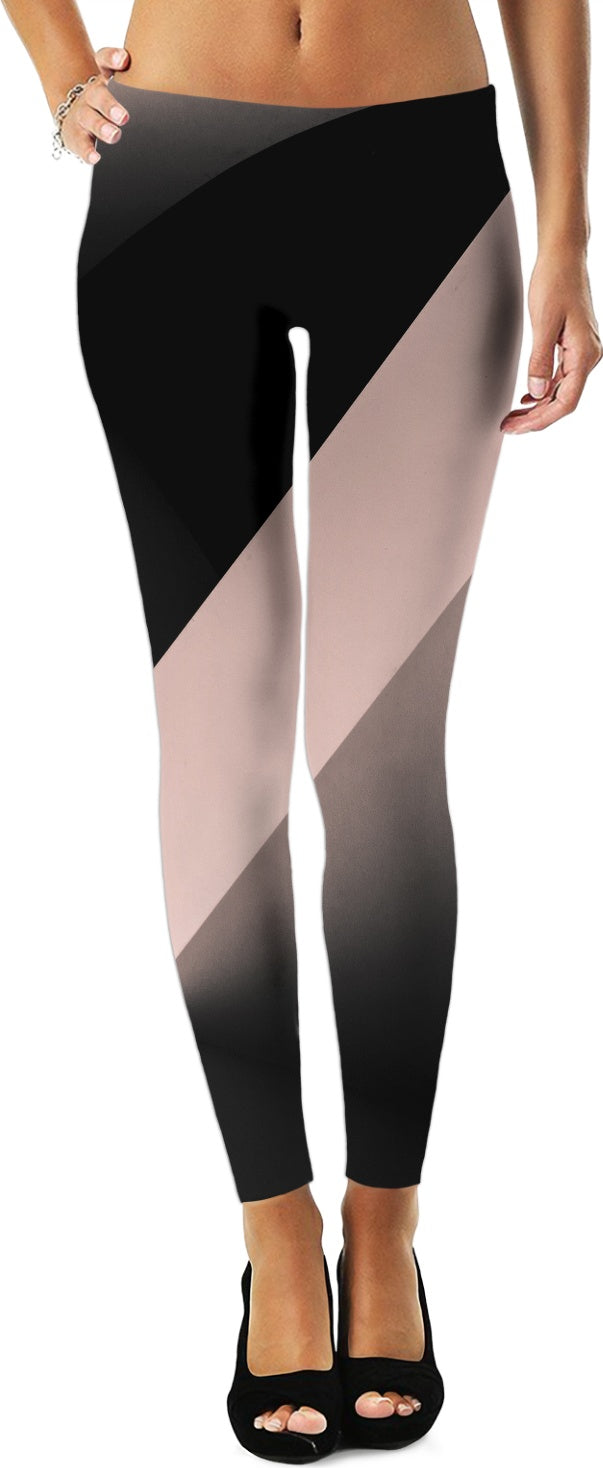 Pink Stripe Women's Leggings