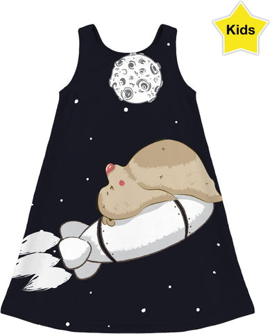 Bears in Space Children's Dress
