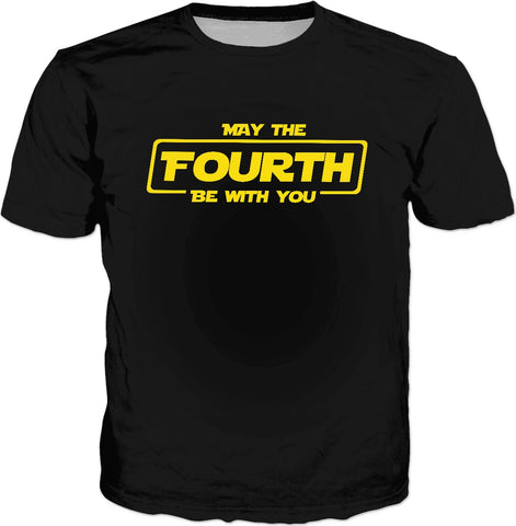 May The Fourth Be With You Classic Black T-Shirt