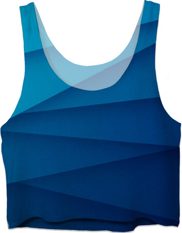 ROCT Blue Diagonal Women's Crop Top