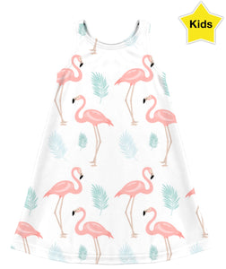 Pink Flamingos Children's Dress