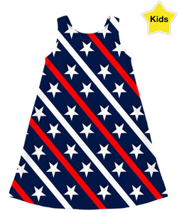 Red, White And Blue Children's Dress