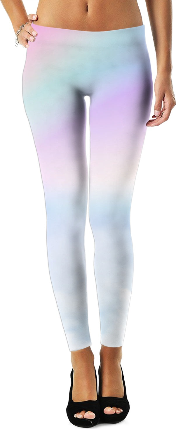 Pastel Clouds Women's Leggings