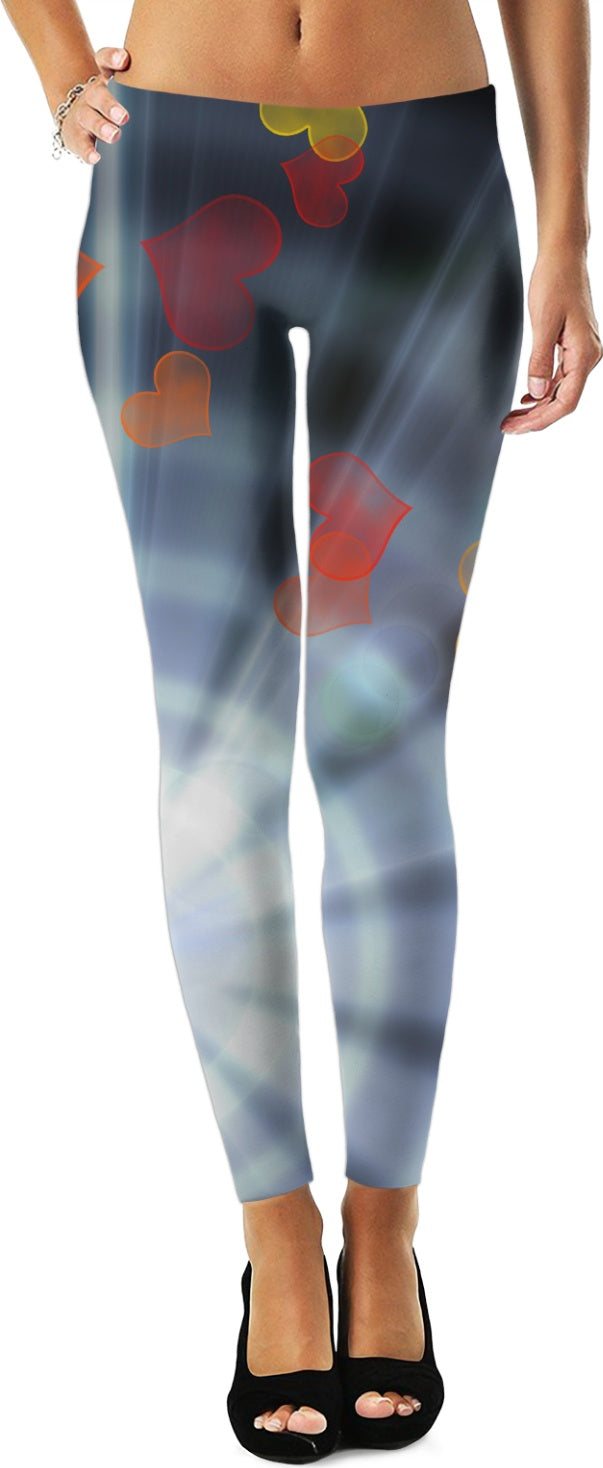 Rays and Hearts Women's Leggings