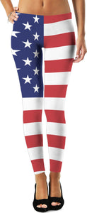 4th of July Women's Leggings/Plus Sizes Available
