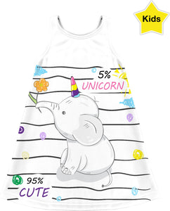 5% Unicorn 95% Cute Children's Dress