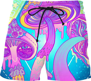 Magic Mushrooms - Festival Swim Trunks