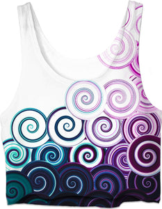 ROCT Purple to Teal Women's Crop Top