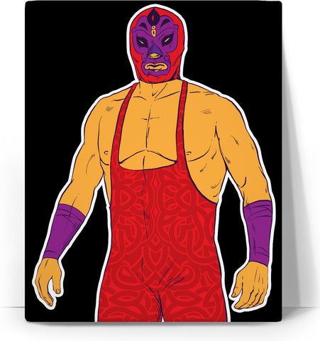 Mexican Wrestler Canvas