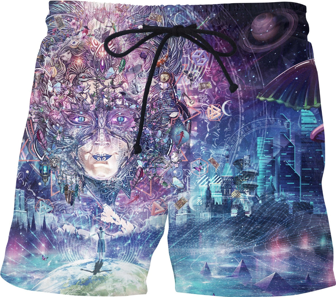 Quest For The Peak Experience - Swim Shorts