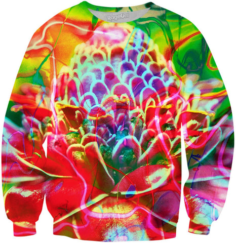 Rainforest Flower Abstract Remix G Sweatshirt