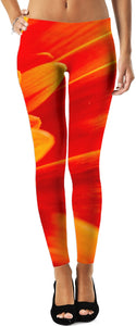 Orange Petals Women's Leggings