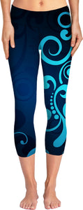 Blue and Teal Yoga Pants