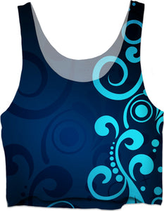 RWCT Blue and Teal Women's Crop Top