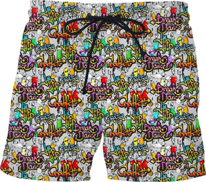 Break Dance Swim Trunks