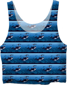ROCT Killer Whales Crop Top