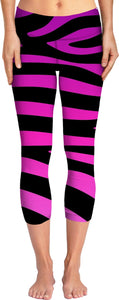 Purple Zebra Stripes Yoga Pants