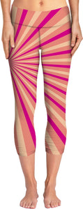 Pink and Peach Sunburst Yoga Pants