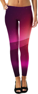 Purple Sparkle Ombre Women's Leggings
