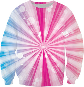 Sunburst Pink And Blue Sweatshirt