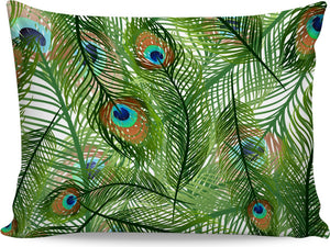 Peacock Feathers Pillowcase