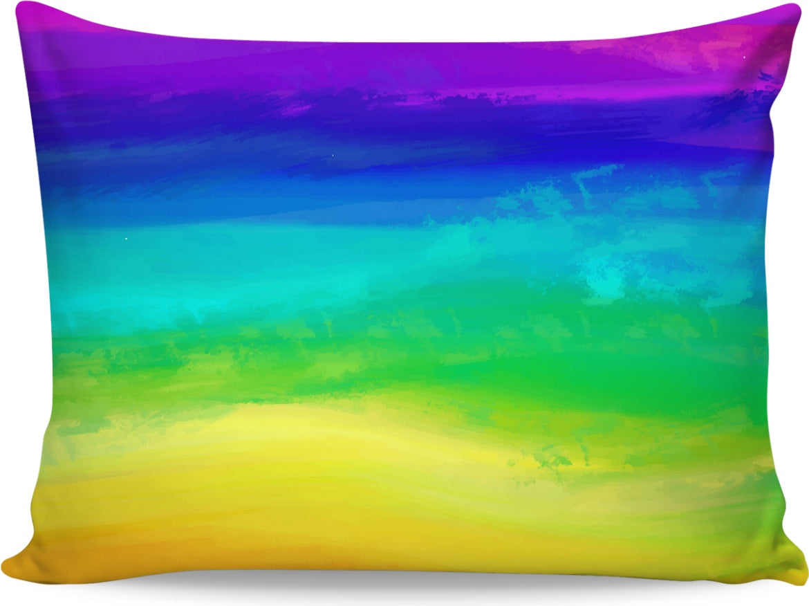 Watercolor Rainbow Pillowcase