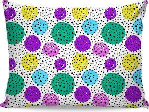 Black Spotted Pillowcase