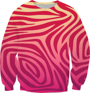 Pink and Yellow Animal Print Sweatshirt