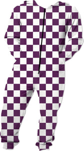 Purple Checkered Romper